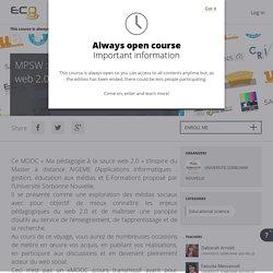 """Mooc """"Ma pédagogie à la sauce Web 2.0"""""""