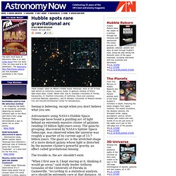 Hubble spots rare gravitational arc