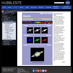 HubbleSite - Behind the Pictures - Saturn
