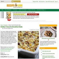 Hubby's Favorite Breakfast Bake