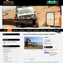 Hubdach TOP-LIFTER für Land Rover Defender 110 SW / HT - TRIP-TEC