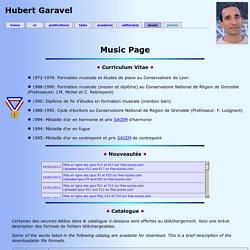 Hubert Garavel - Music Page