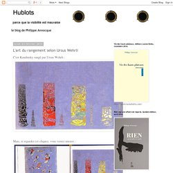 Hublots: L'art du rangement selon Ursus Wehrli