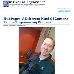 HubPages: A Different Kind Of Content Farm - Empowering Writers