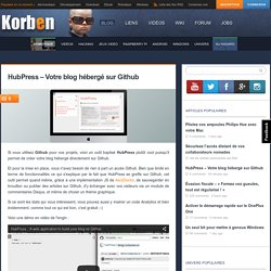 HubPress - Votre blog hébergé sur Github