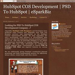 PSD To HubSpot Developer