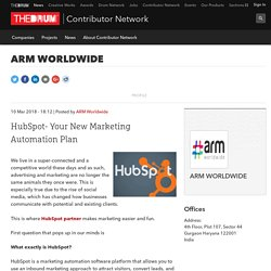 HubSpot- Your New Marketing Automation Plan