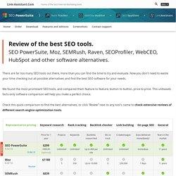 Comparatif des meilleurs outils d'analyse SEO - Compare best SEO tools
