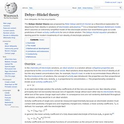 Debye–Hückel theory