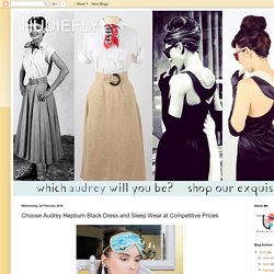 HUDIEFLY: Choose Audrey Hepburn Black Dress and Sleep Wear at Competitive Prices