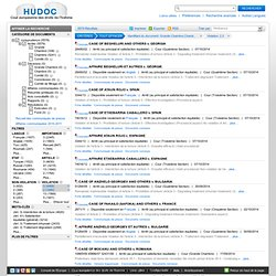HUDOC Search Page