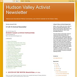 01-26-14 Activist Newsletter