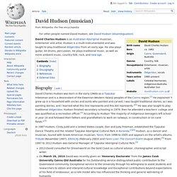 David Hudson (musician) - Wikipedia