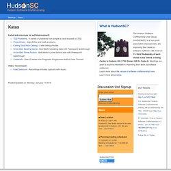 Katas : Hudson Software Craftsmanship