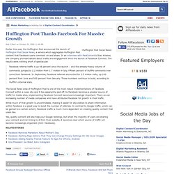 Huffington Post Thanks Facebook For Massive Growth