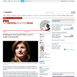 Huffington Post and Politico set to make 2009 profit