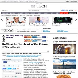 Paul Berry: HuffPost for Facebook -- The Future of Social News