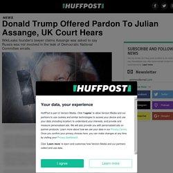 Donald Trump Offered Pardon To Julian Assange, UK Court Hears