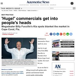 'Huge!' commercials get into people's heads
