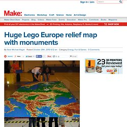 Make: Online : Huge Lego Europe relief map with monuments