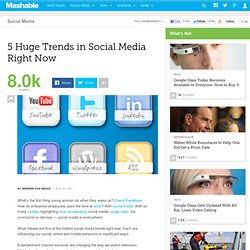 5 Huge Trends in Social Media Right Now