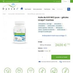 Huile de krill NKO pure - 500 mg / 60 gélules Licaps - Dynveo
