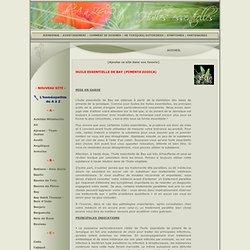 Huiles essentielles : Bay - Piment de la Jamaïque