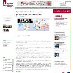 Huis clos sur le Net, du 1er au 5 février 2010, une coproduction des RFP