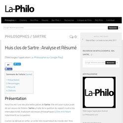 Huis clos de Sartre : Analyse et Résumé