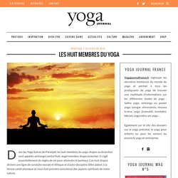 Les huit membres du yoga - Yoga Journal France