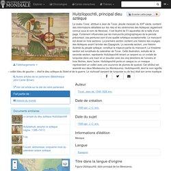 Huitzilopochtli, principal dieu aztèque - Bibliothèque numérique mondiale