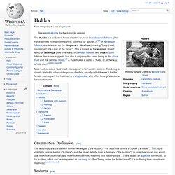 Huldra - Wikipedia, la enciclopedia libre