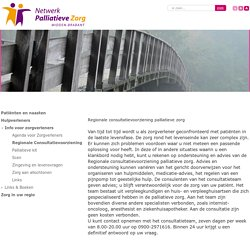 Netwerk Palliatieve Zorg - Midden-Brabant > Hulpverleners > Info voor zorgverleners > Regionale Consultatievoorziening