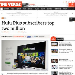 Hulu Plus subscribers top 2 million