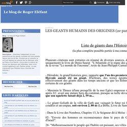 LES GEANTS HUMAINS DES ORIGINES (2e partie) - Le blog de Roger Eléfant