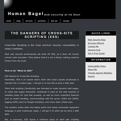 The dangers of Cross-Site Scripting (XSS)