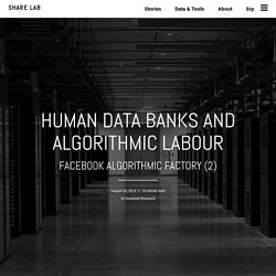 Human Data Banks and Algorithmic Labour