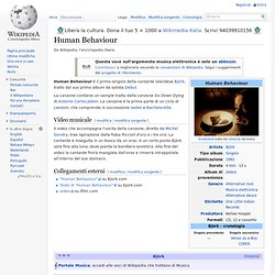 Human Behaviour - Wikipedia - Cyberfox
