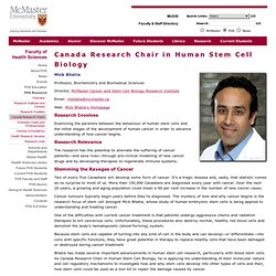 Human Stem Cell Biology Chair — Mick Bhatia