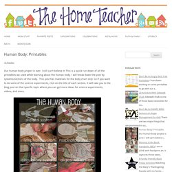 Human Body: Printables - The Home Teacher
