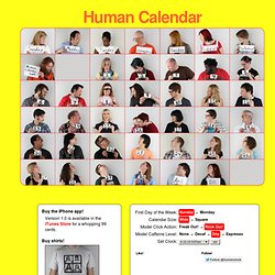 The Human Calendar: A Calendar of Humans