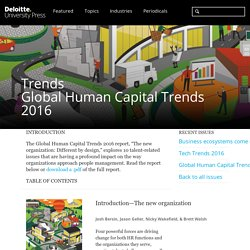 Human Capital Trends 2016 (Deloitte)