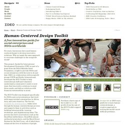 Work - Human Centered Design Toolkit - IDEO