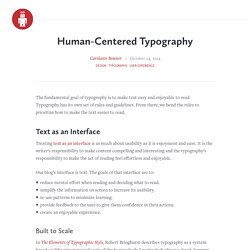 Human-Centered Typography