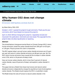 Why human CO2 does not change climate - edberry.com