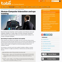 Eye Tracking Research and Human-Computer Interaction