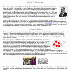 Human Culture: What is Culture?