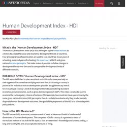 Human Development Index - HDI