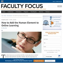 How to Add the Human Element to Online Learning