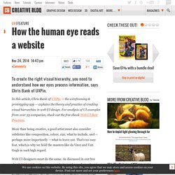 How the human eye reads a website